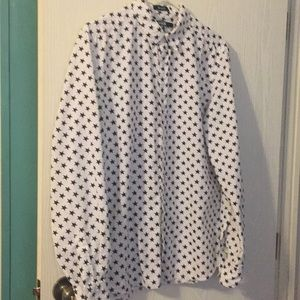 Carbon blue star button down